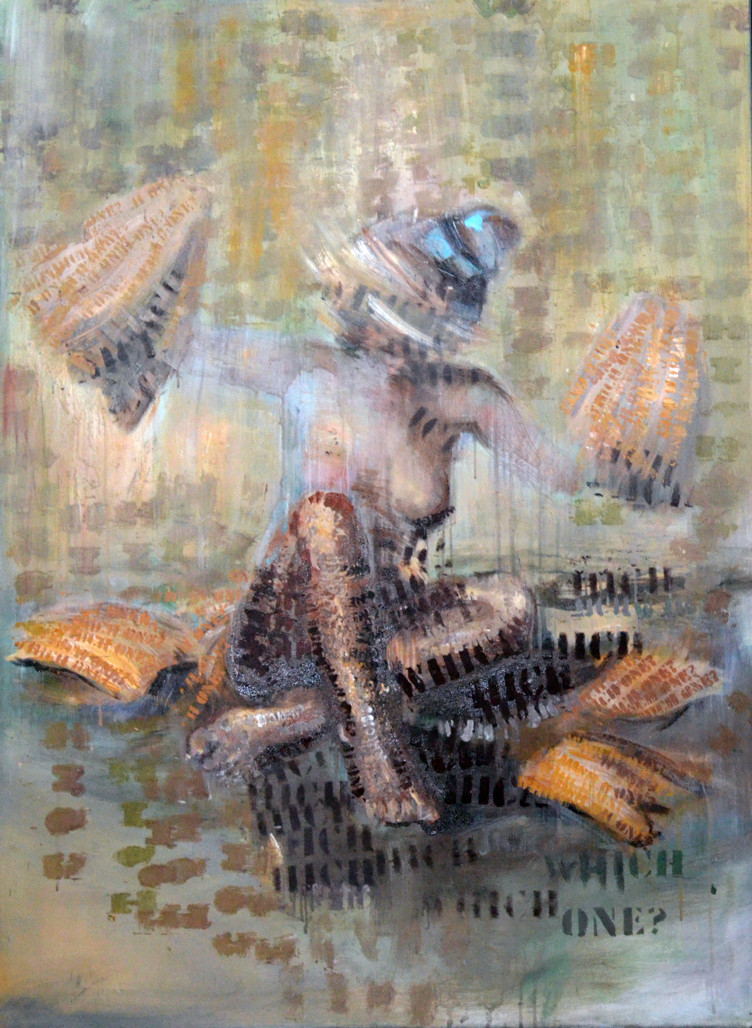 Which one? Z cyklu Myslenie ženy, 80x95 cm, akryl na plátne, 2014